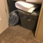 box storage in the hall closet